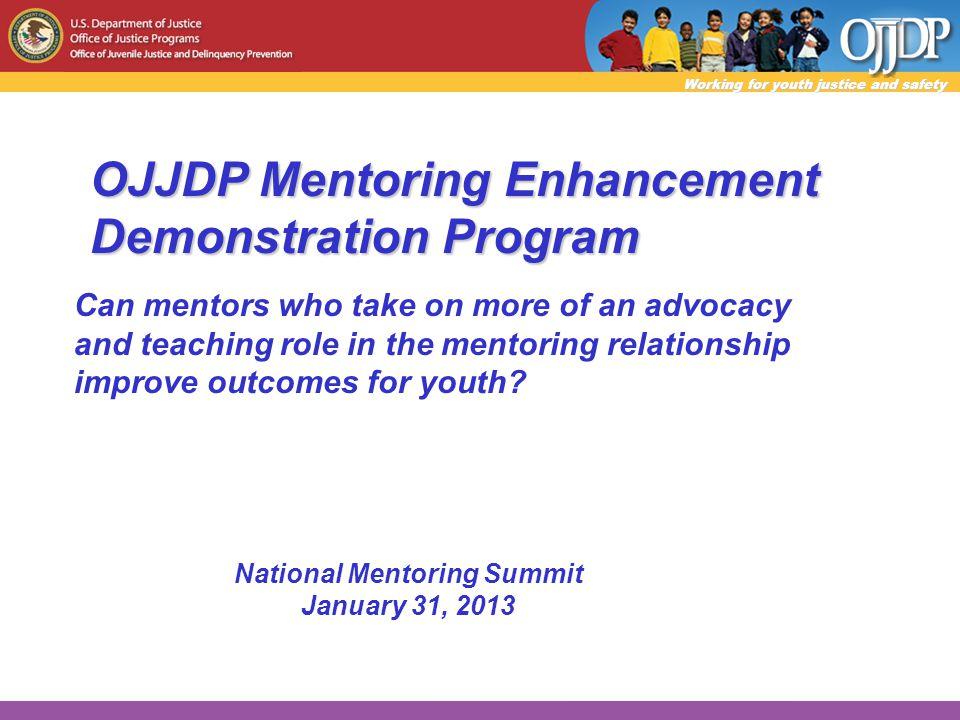 Presenters OJJDP: Jennifer Tyson Evaluator: Dr.Roger Jarjoura (PI) Consultant/advisor: Dr.
