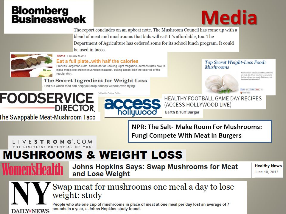NPR: The Salt- Make Room For Mushrooms: Fungi Compete With Meat In Burgers Media