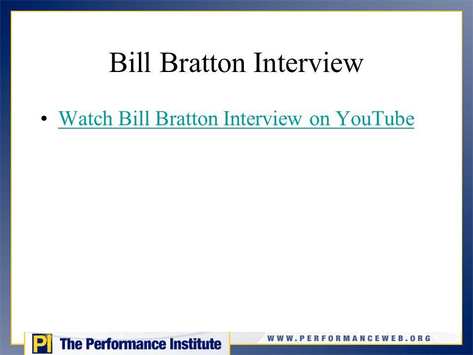 Bill Bratton Interview Watch Bill Bratton Interview on YouTube
