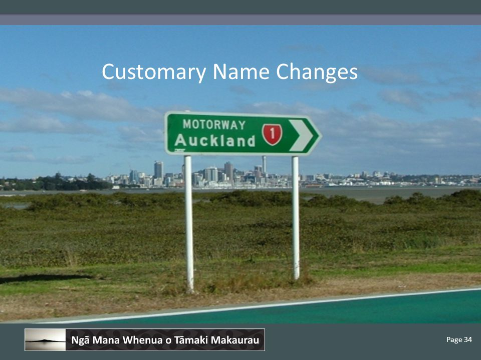 Page 34 Customary Name Changes