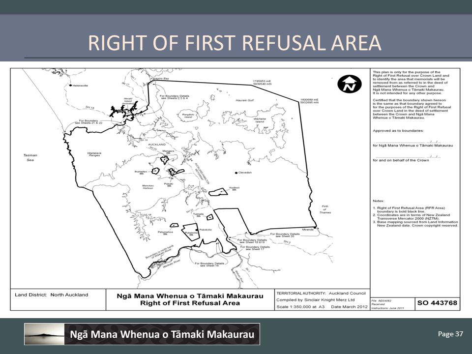 Page 37 RIGHT OF FIRST REFUSAL AREA
