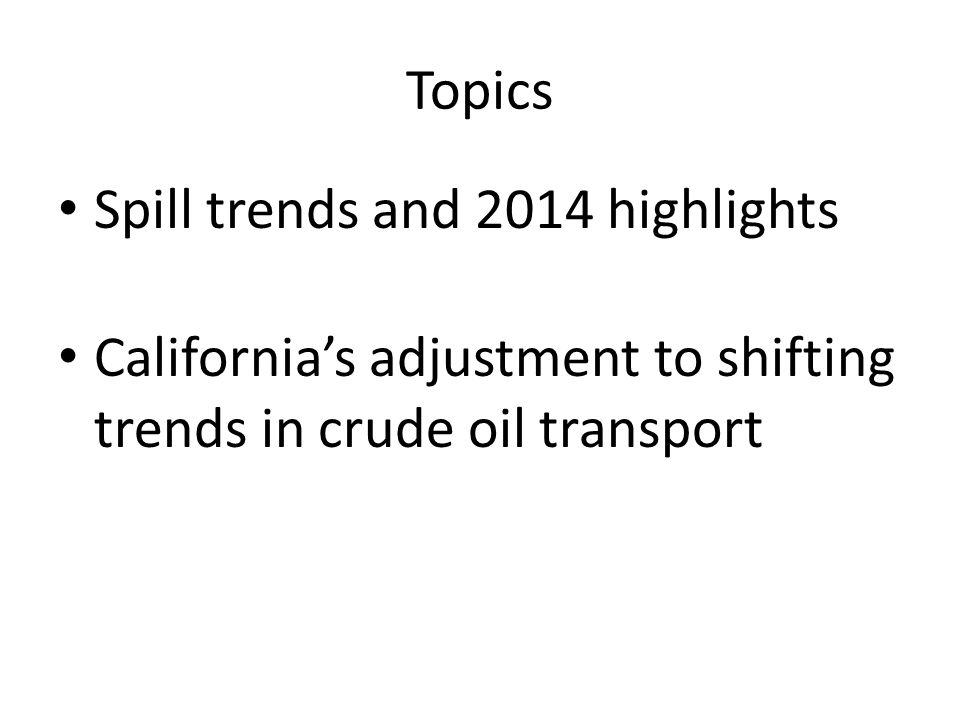 California's Oil Supply and Use Where crude comes from How crude gets here Where crude is processed Where product goes Alaska overseas Bakken/North Dakota California - offshore California - inland tanker pipeline rail refineries 100% 51% fee collection points: Refineries and marine terminals 36% 28% 7% 25% 4%