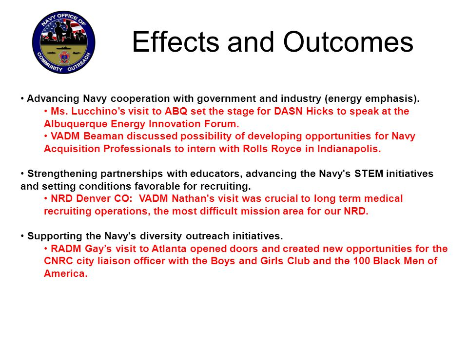 Advancing Navy cooperation with government and industry (energy emphasis).