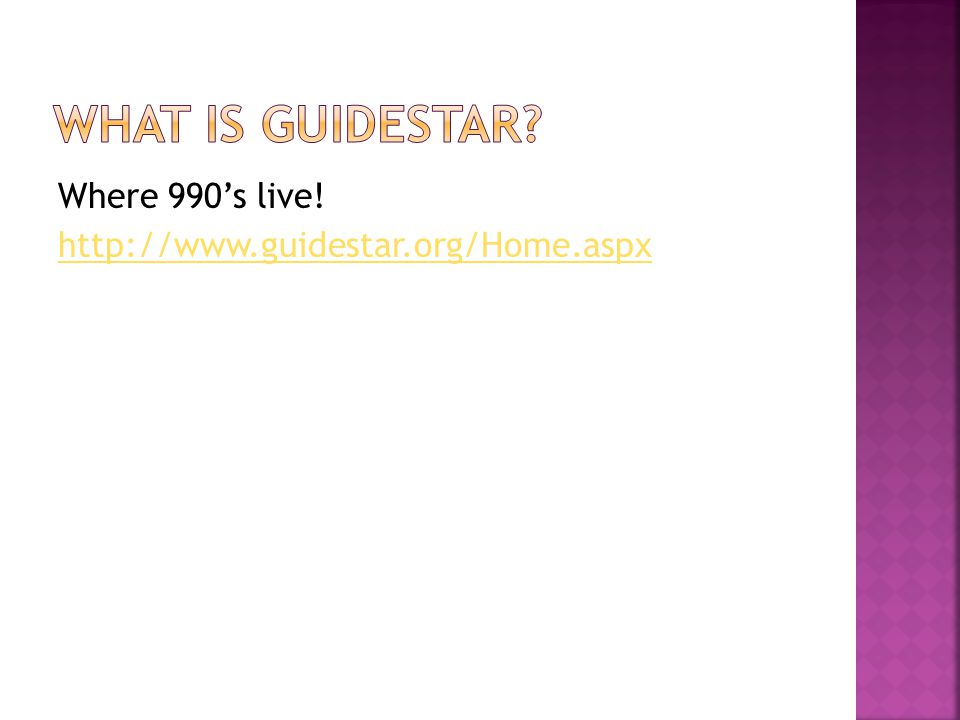 Where 990's live! http://www.guidestar.org/Home.aspx