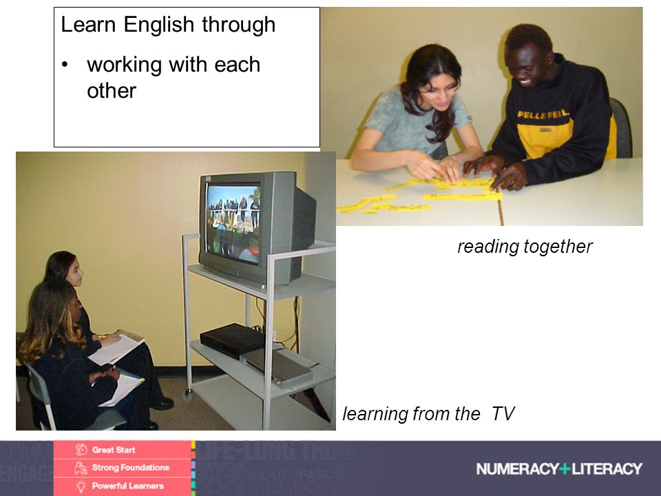 Faculty of Edit this on the Slide MasterThe University of Adelaide Learn English through working with each other reading together learning from the TV