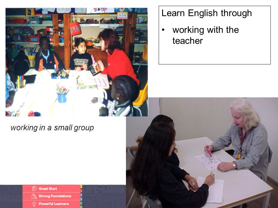 Faculty of Edit this on the Slide MasterThe University of Adelaide Learn English through working with the teacher working in a small group