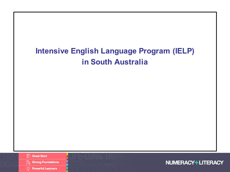 IELP Program Specialist centres for new arrivals to support students more than 5 years old prepare students for success in the school curriculum develop their confidence to live in the Australian community