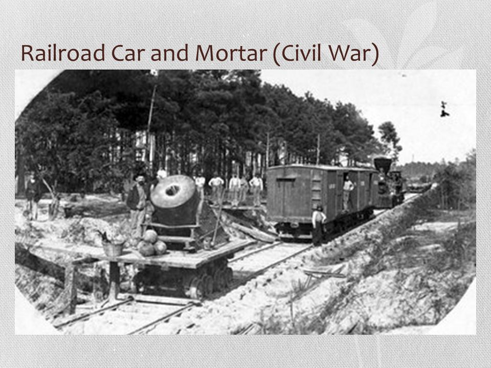 Railroad Car and Mortar (Civil War)