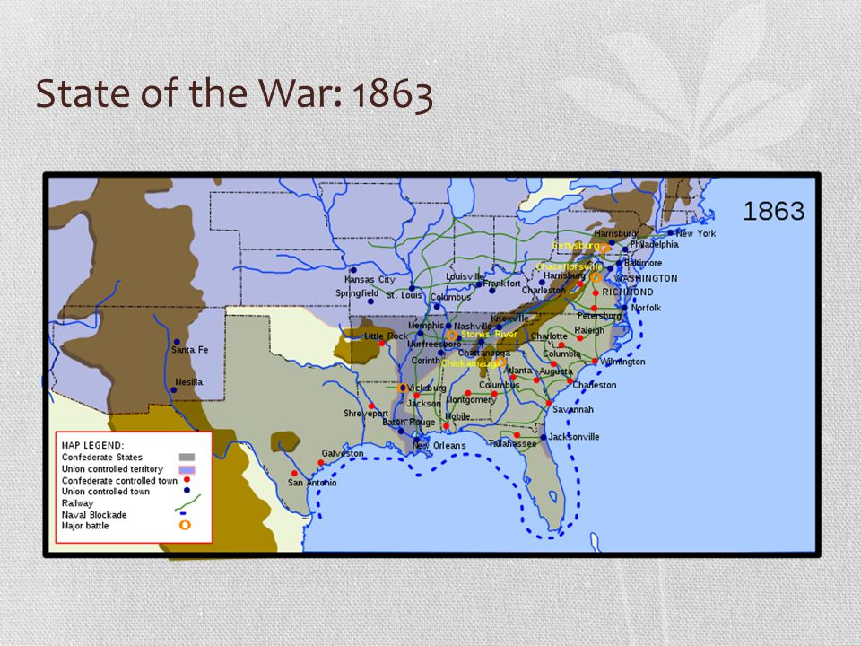 State of the War: 1863