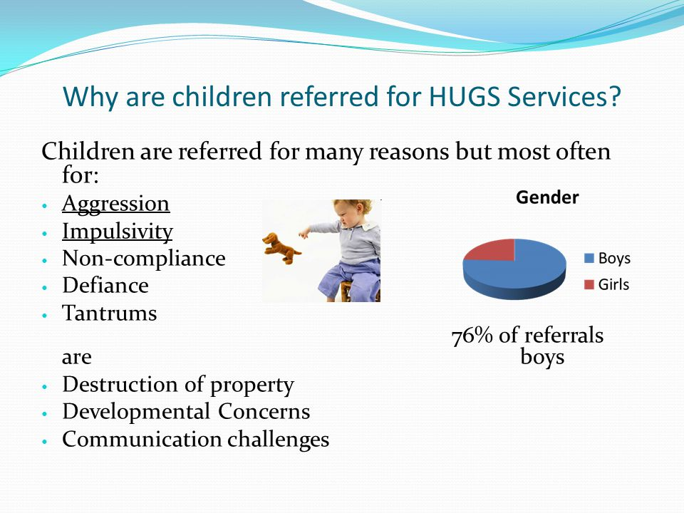 Why are children referred for HUGS Services.