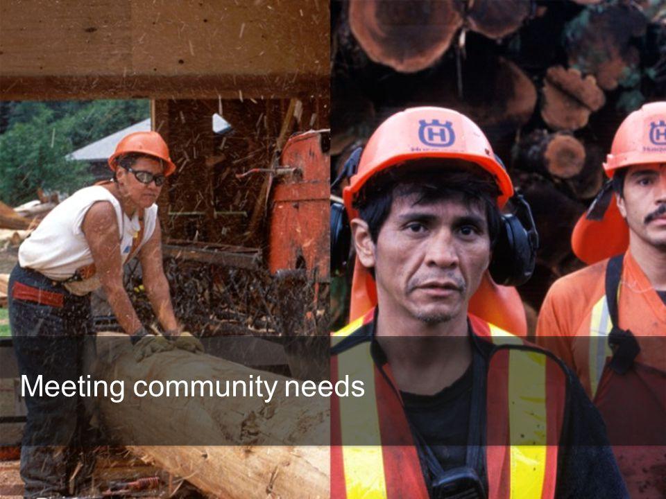 Meeting community needs