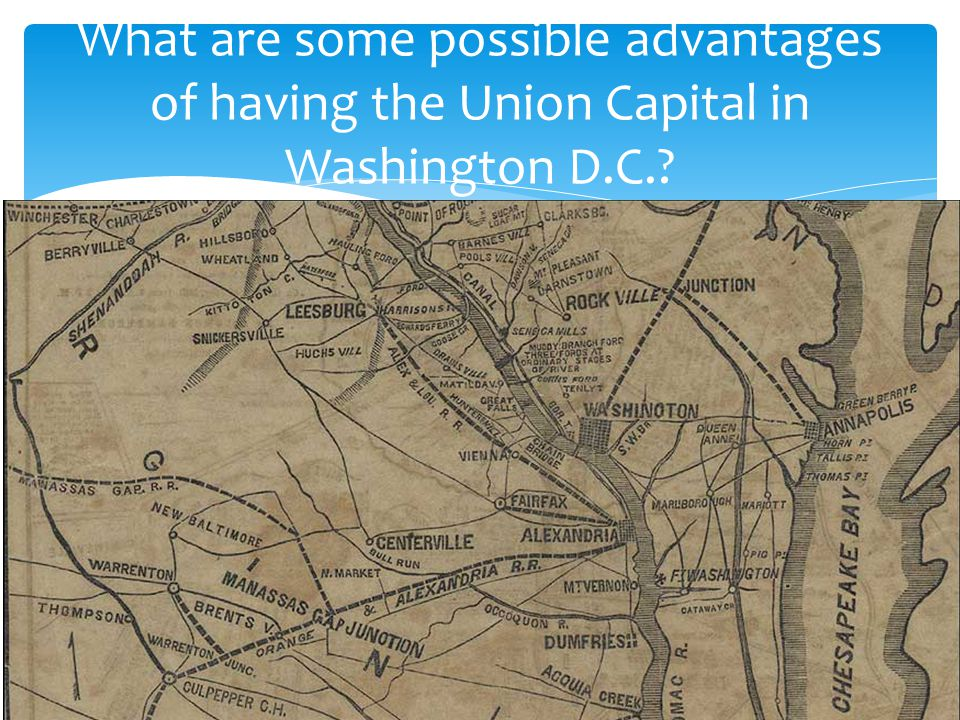 What are some possible advantages of having the Union Capital in Washington D.C.?