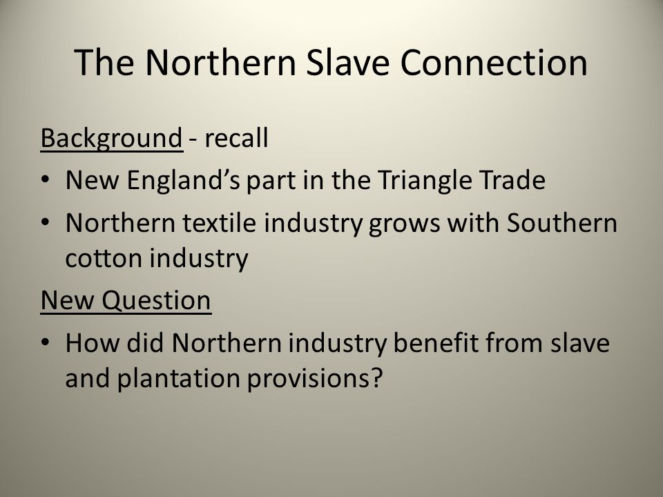 The Northern Slave Connection Planter: A vote for Abraham Lincoln will end our business relationship. Manufacturer: I sell boots not principles.