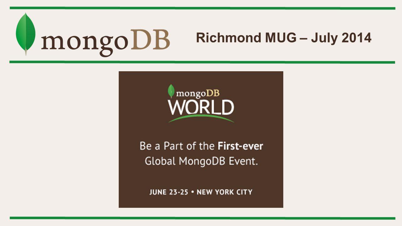 Richmond MUG – July 2014