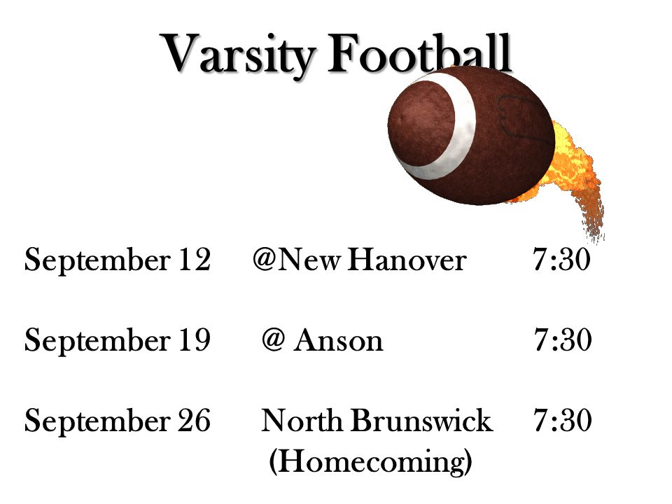 JV Football September 18 @Home vs.