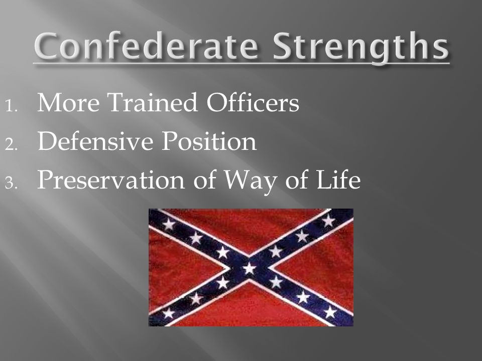 1. More Trained Officers 2. Defensive Position 3. Preservation of Way of Life