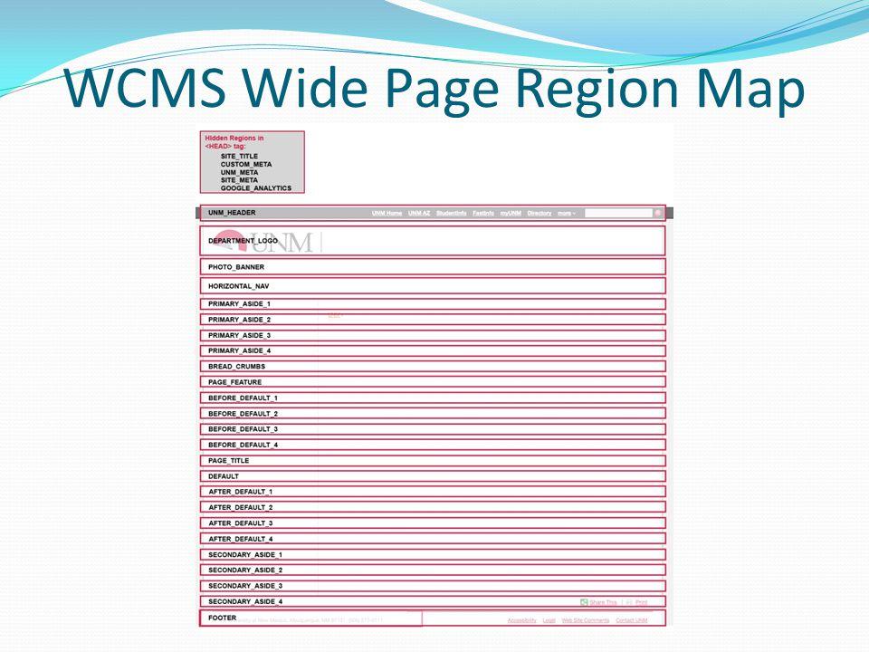 WCMS Wide Page Region Map