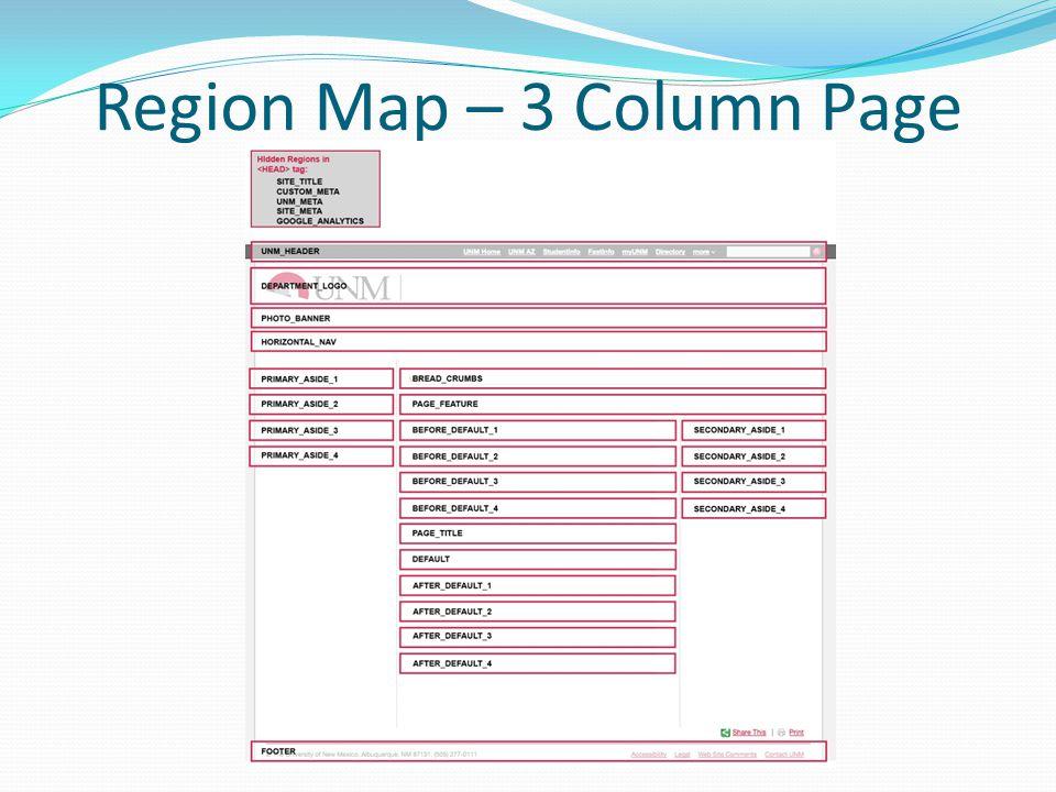 Region Map – 3 Column Page