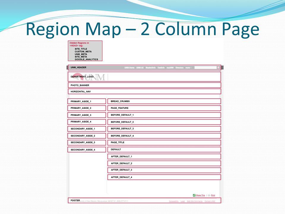 Region Map – 2 Column Page