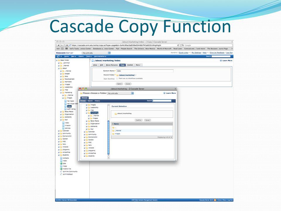 Cascade Copy Function