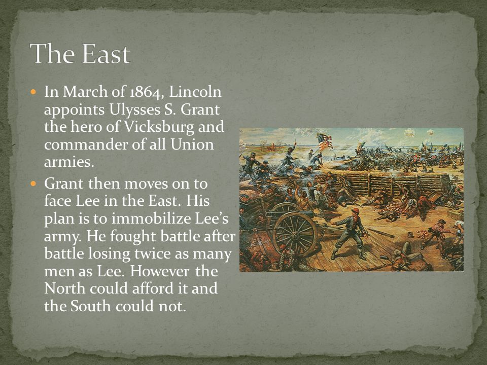 In March of 1864, Lincoln appoints Ulysses S.
