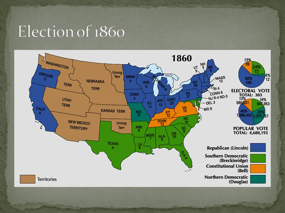 With Lincoln winning the election, the South felt like they had lost their political voice.