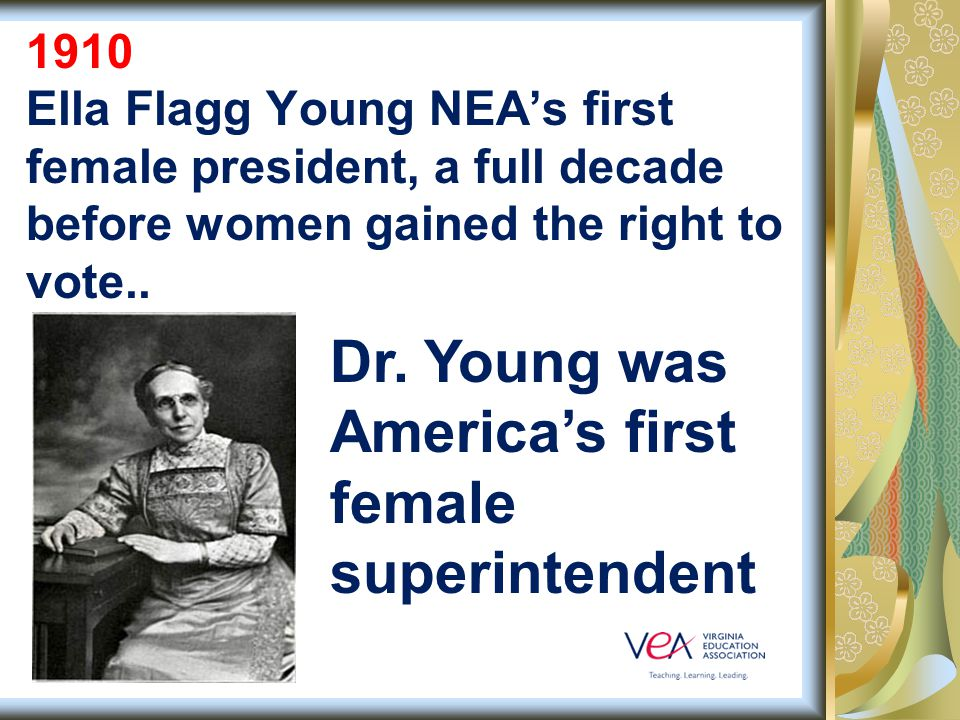 1909 VEA worked with the Virginia General Assembly to create the pension plan that is now called VRS—the first of its kind in the country.