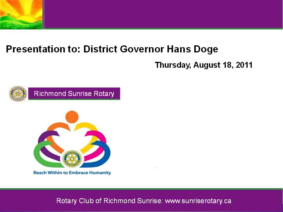 Rotary Club of Richmond Sunrise 2011-2012