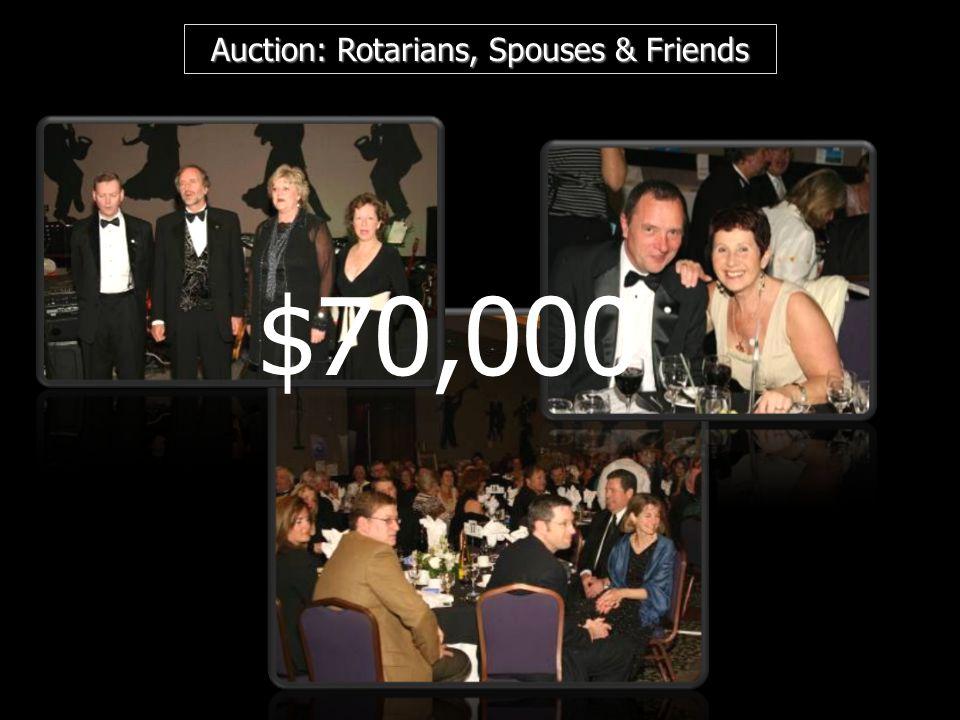 Auction: Rotarians, Spouses & Friends $70,000