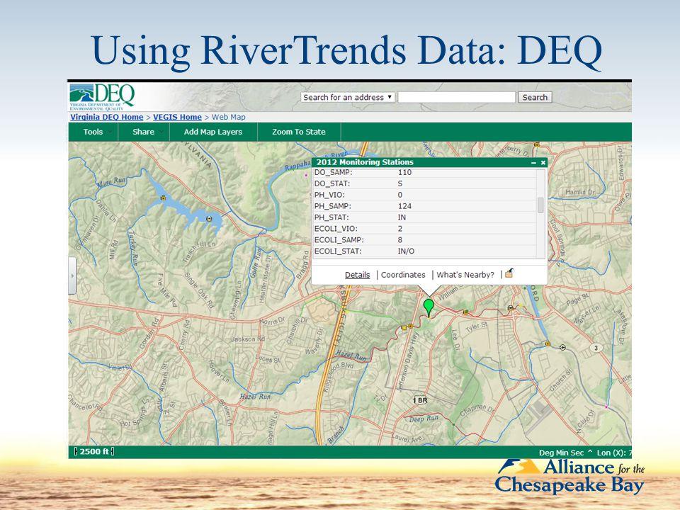 Using RiverTrends Data: DEQ