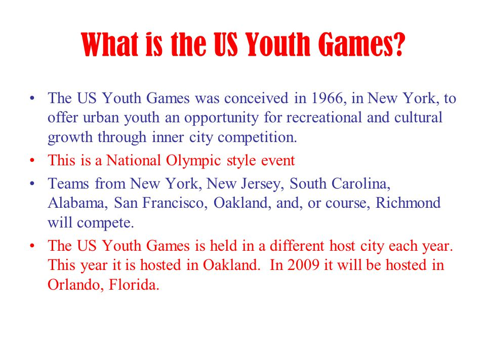 What is the US Youth Games.