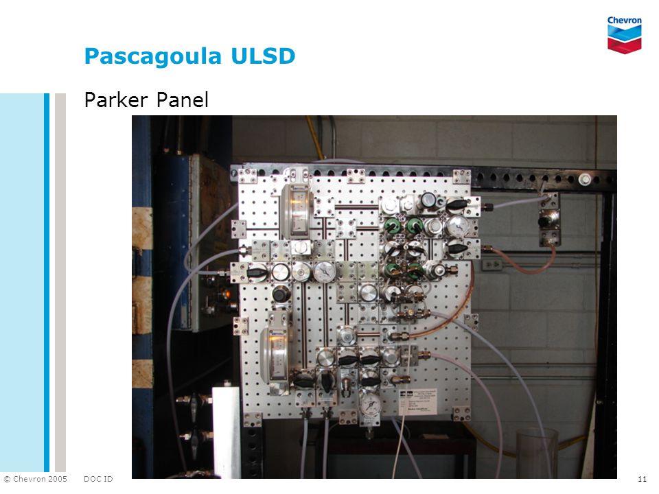 DOC ID © Chevron 2005 11 Pascagoula ULSD Parker Panel