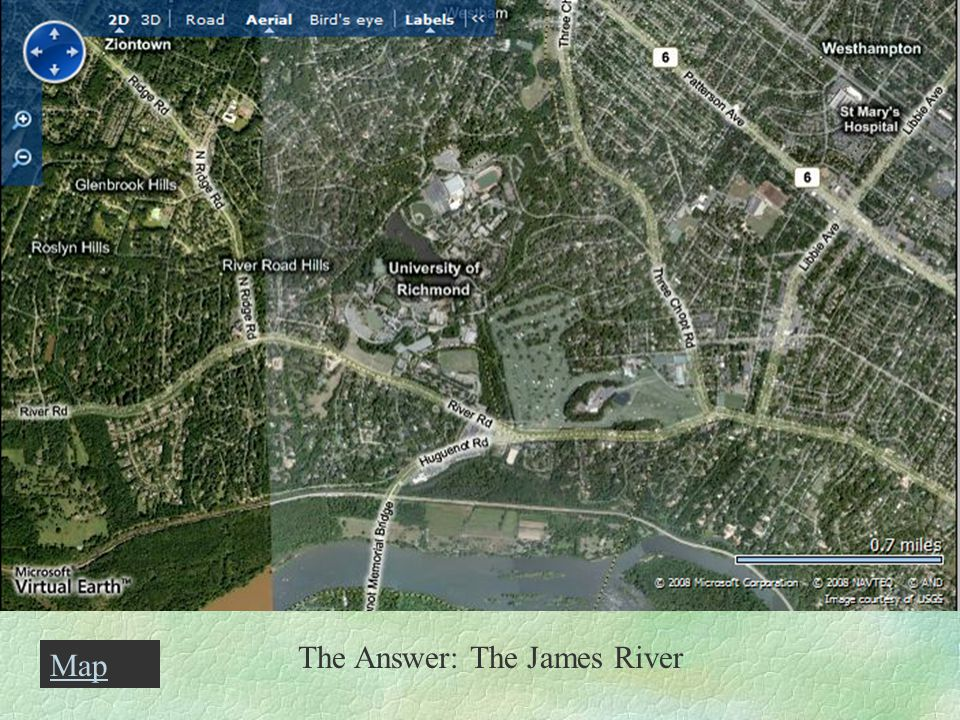 The Answer: The James River Map