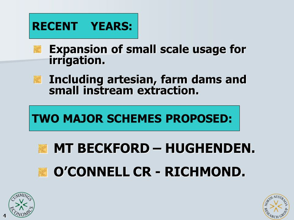 5 SMEC Report 2003. In Stream dam. 15km east of Hughenden.