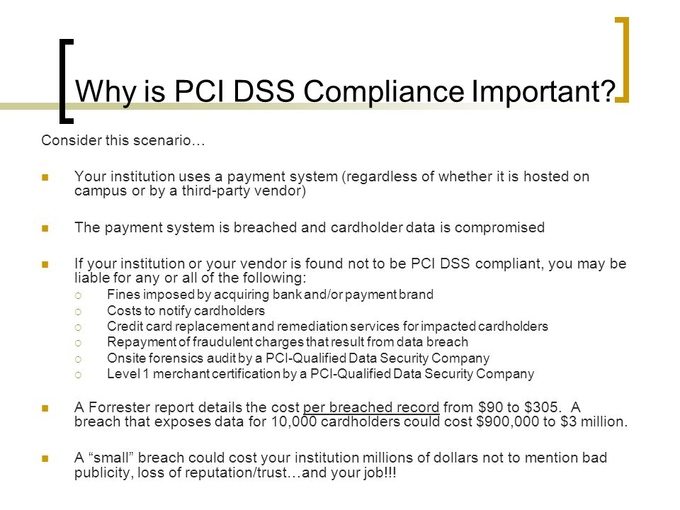 Why is PCI DSS Compliance Important.