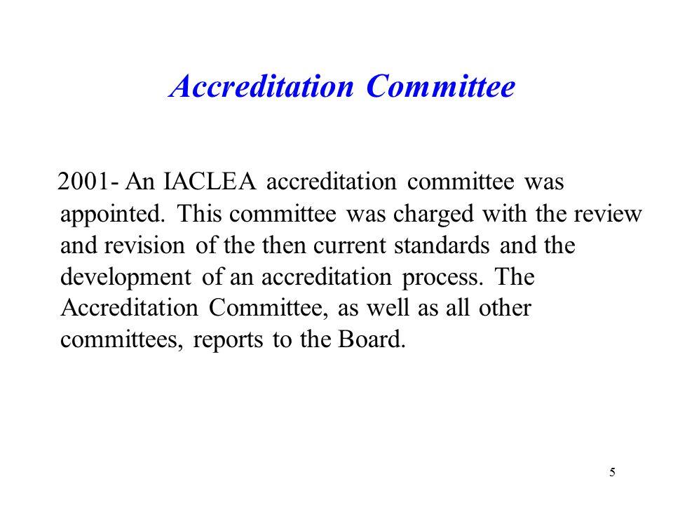 26 *IACLEA selects assessors.