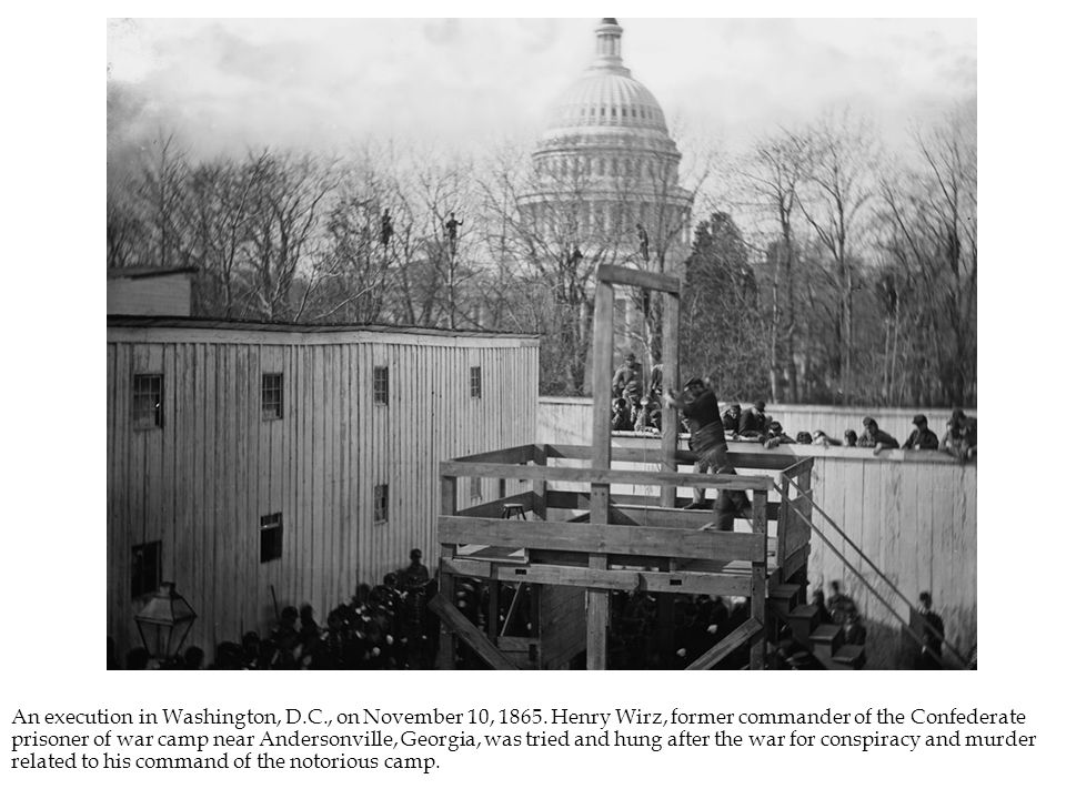 An execution in Washington, D.C., on November 10, 1865.