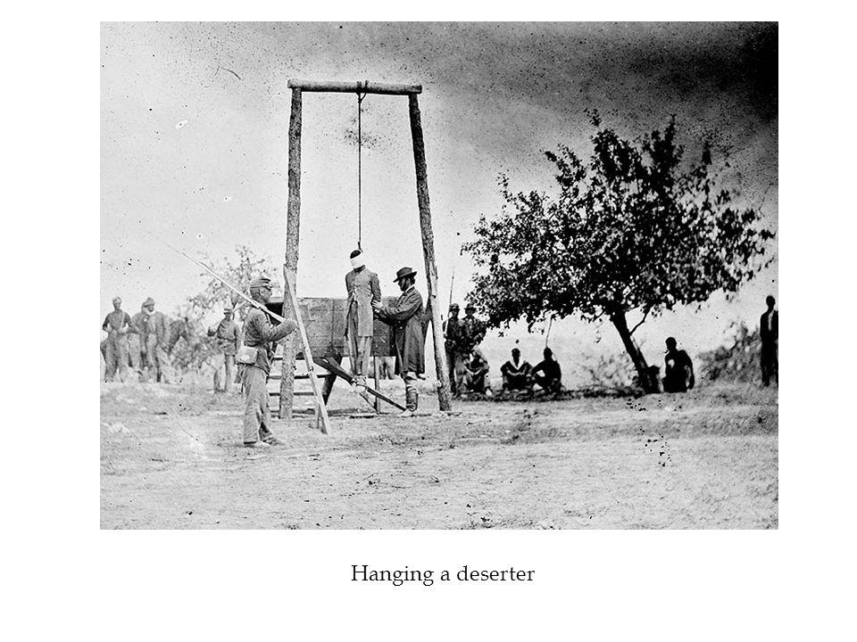 Hanging a deserter
