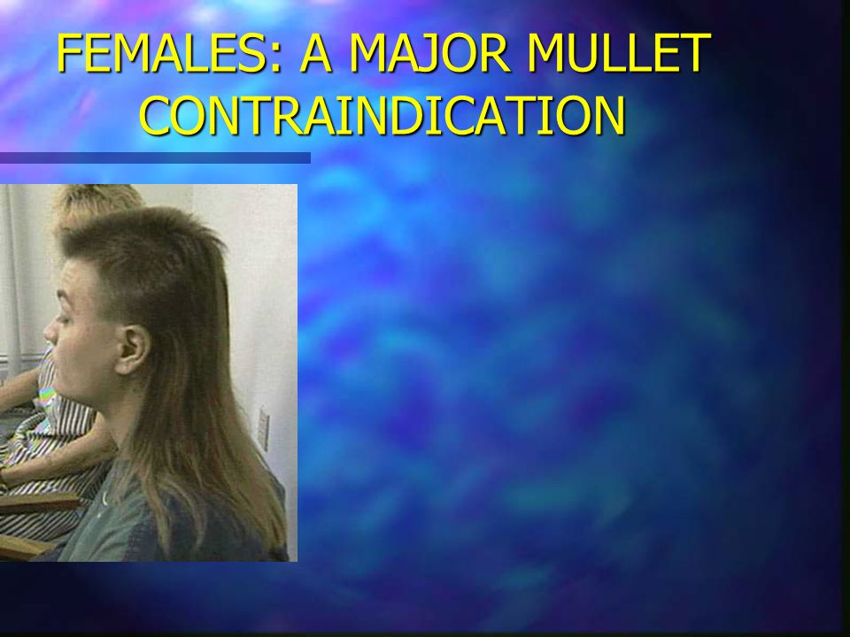FEMALES: A MAJOR MULLET CONTRAINDICATION
