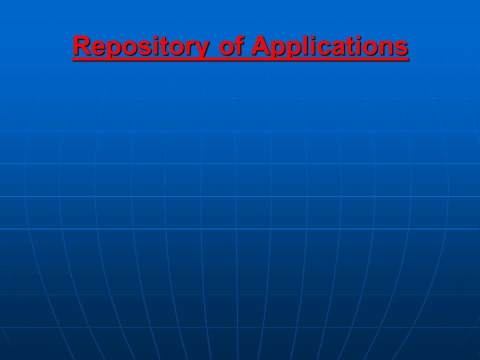 Repository of Applications
