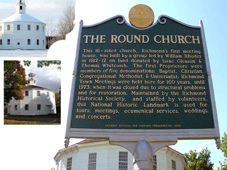 Historic Round Church Richmond, Vermont