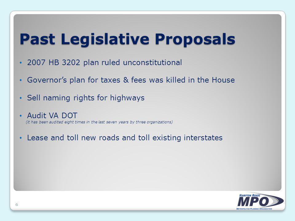 2008 Special Session Legislative Proposals 7 Senate Bill 6009 (Sen.