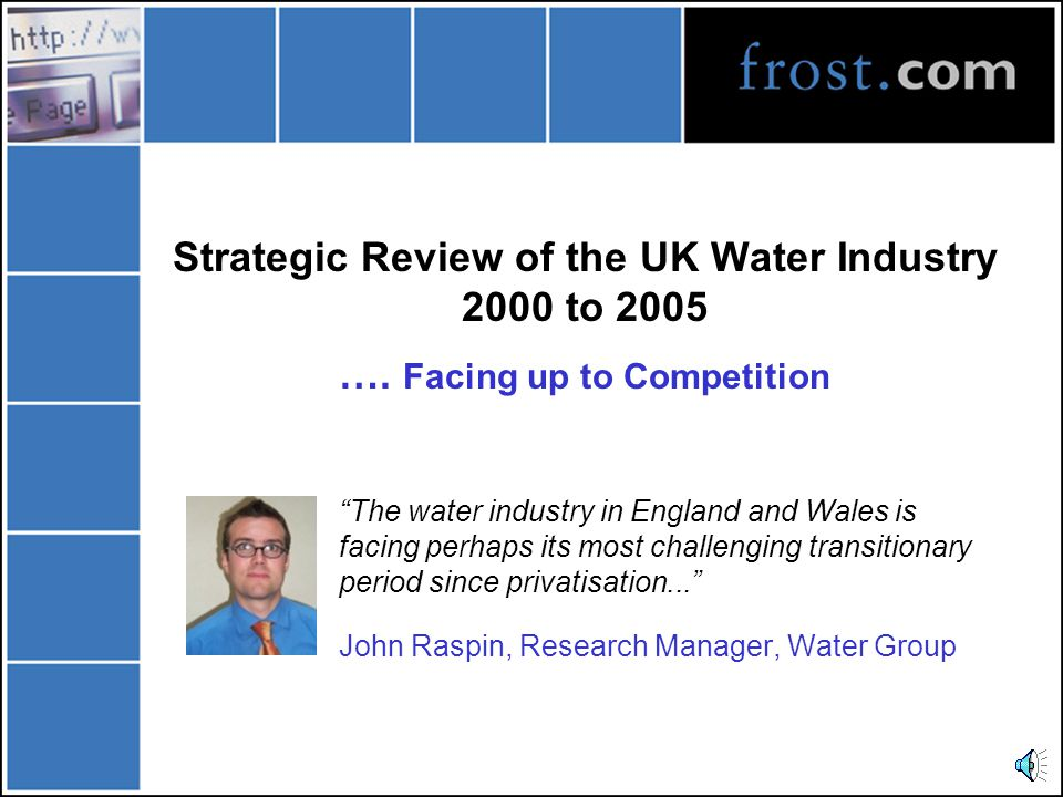 Strategic Review of the UK Water Industry 2000 to 2005 ….