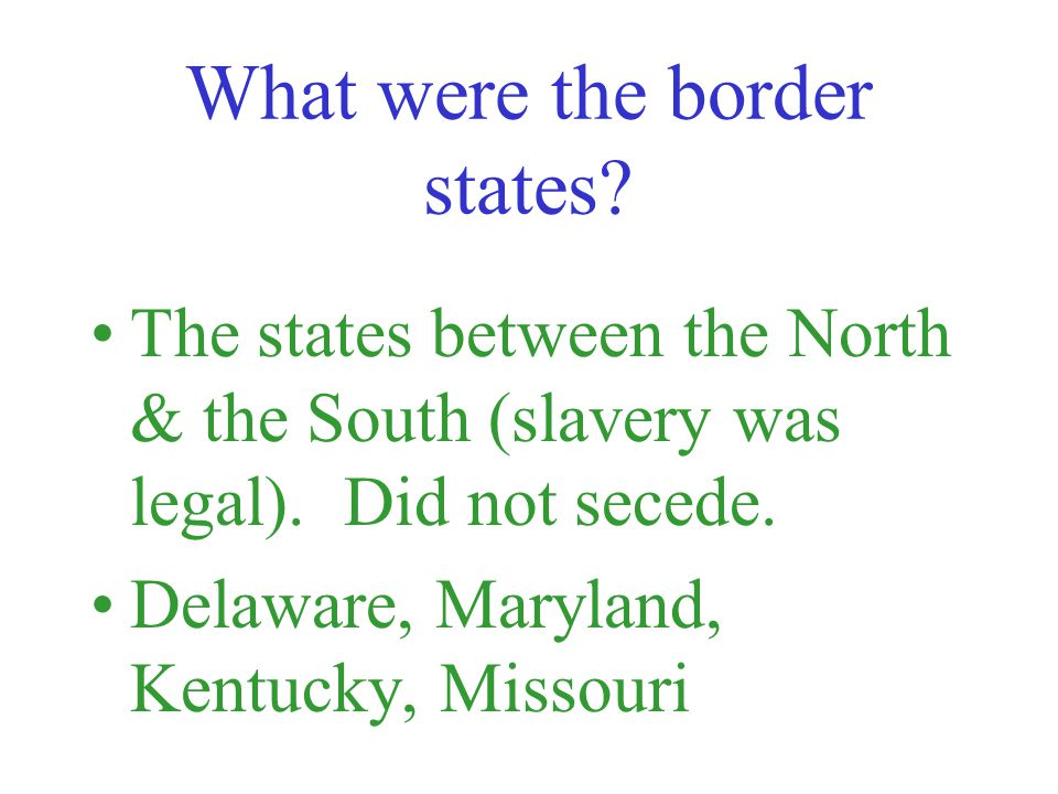 What were the goals of the North at the start of the Civil War.