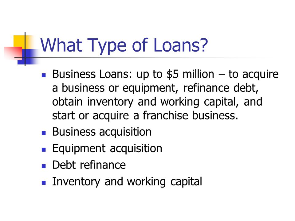 What Type of Loans.