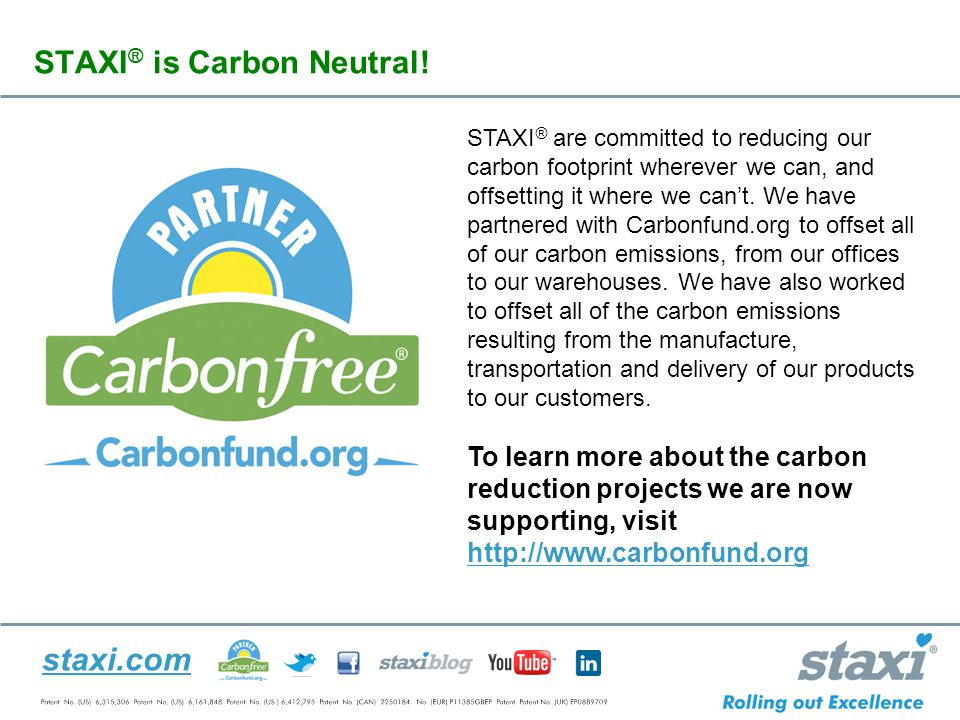 staxi.com STAXI ® is Carbon Neutral.