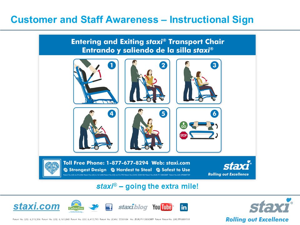 staxi.com Customer and Staff Awareness – Instructional Sign staxi ® – going the extra mile!