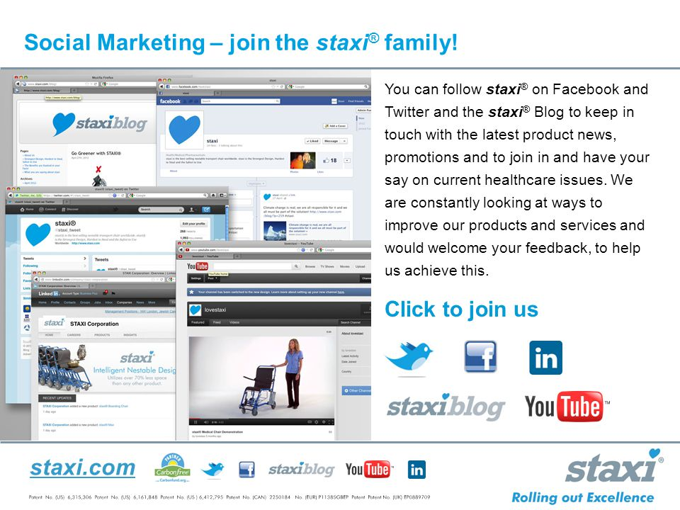 staxi.com Social Marketing – join the staxi ® family.