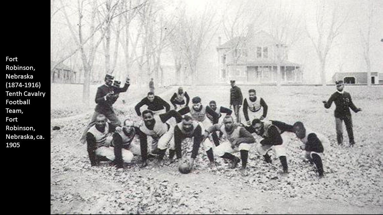 Fort Robinson, Nebraska (1874-1916) Tenth Cavalry Football Team, Fort Robinson, Nebraska, ca. 1905