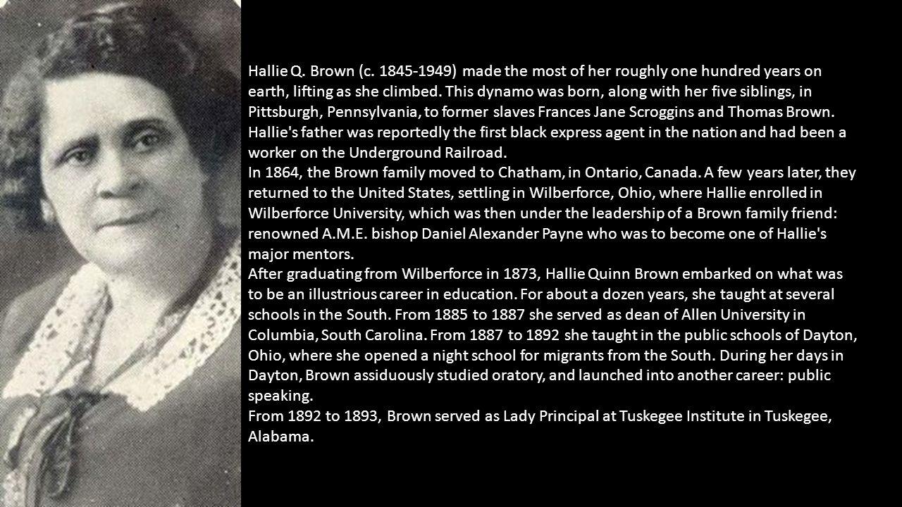 Hallie Q. Brown (c.